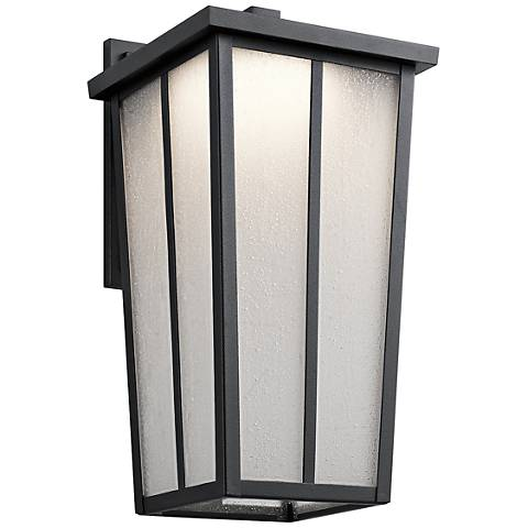 "Amber Valley 17 1/4"" High LED Black Outdoor Wall Light"