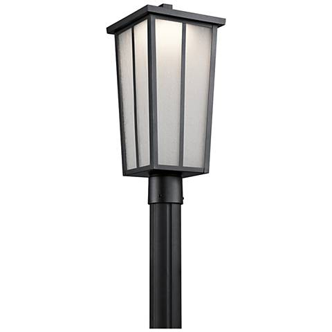"Amber Valley 19 3/4"" High LED Black Outdoor Post Light"