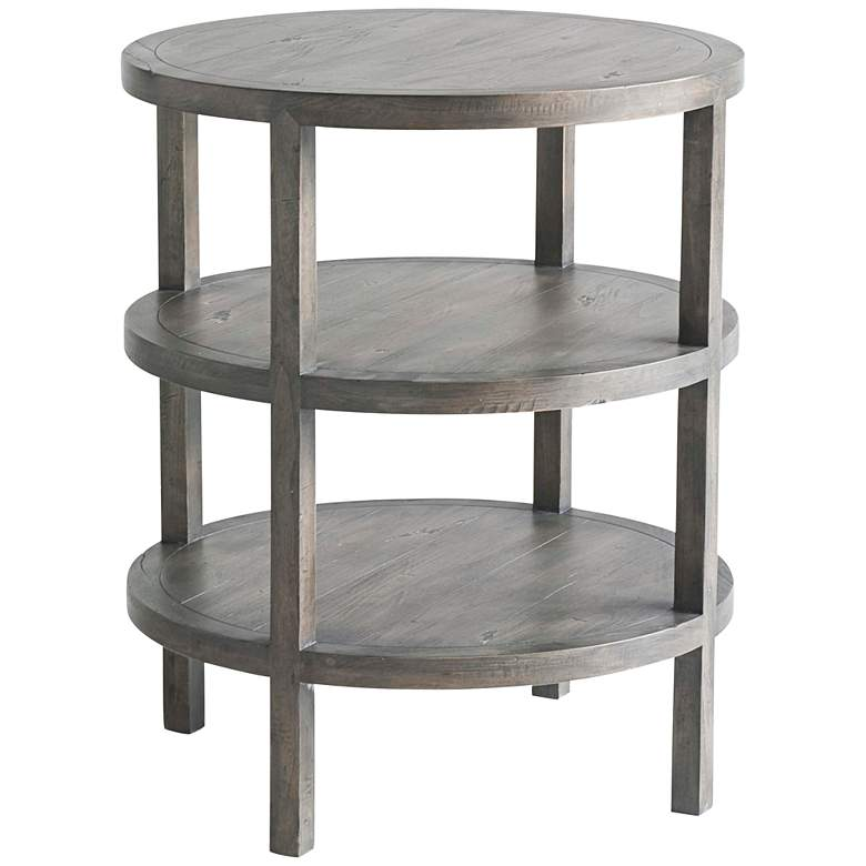 """Hemway 23"""" Wide NoDa Cocoa Wood Accent Table"""