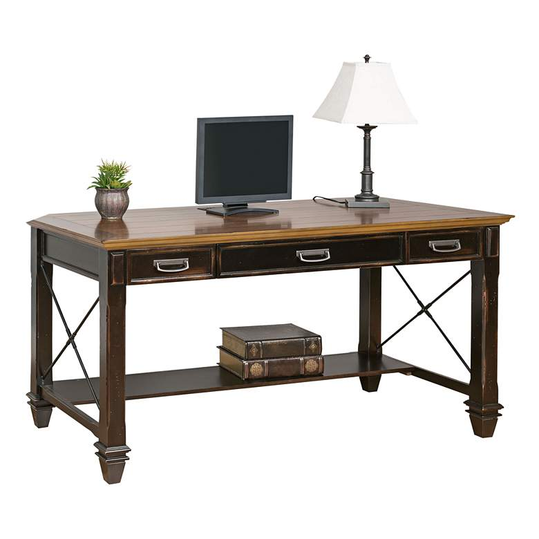"""Hartford 60"""" Wide Hand-Rubbed Wood Office Writing Desk"""