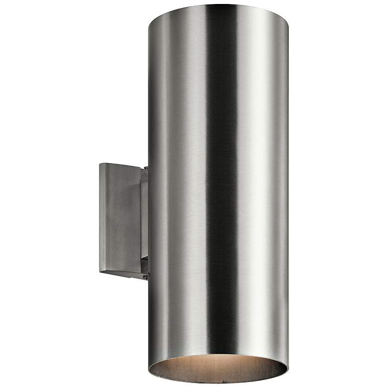 "Kichler Tube 15"" High Aluminum Up/Down Outdoor Wall"