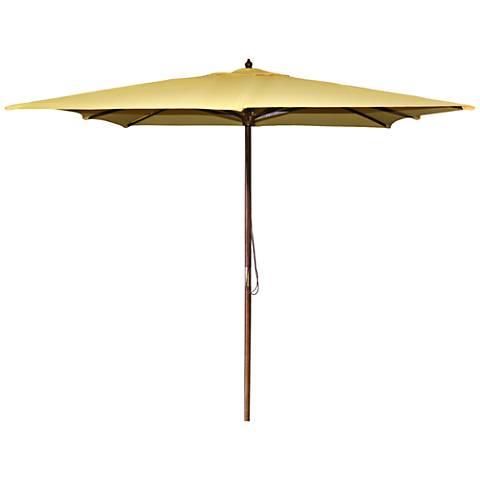 La Jolla Canary 8 1/2' Wooden Square Market Umbrella