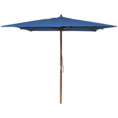 La Jolla Royal 8 1/2' Wooden Square Market Umbrella