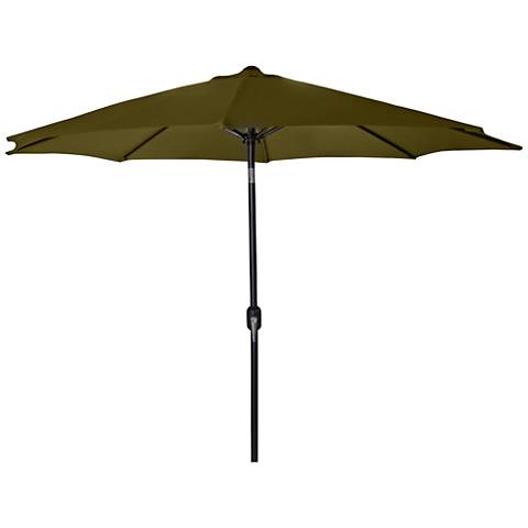 Encinitas Khaki 7 1/2' Steel Market Umbrella