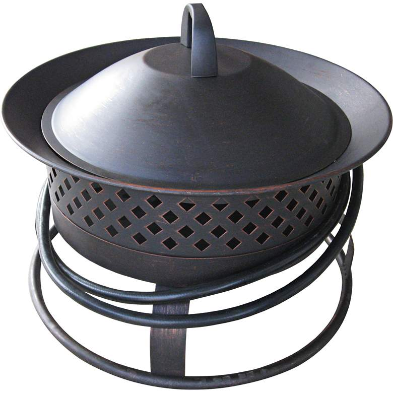 Aurora Rubbed Bronze Gas Powered Bowl Fire Pit