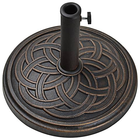 Gaelen 26.4 Lb. Antique Bronze Round Umbrella Base