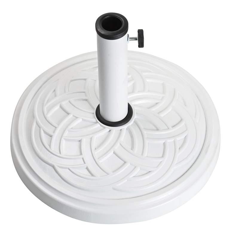 Gaelen 26.4 Lb. White Envirostone Round Umbrella Base