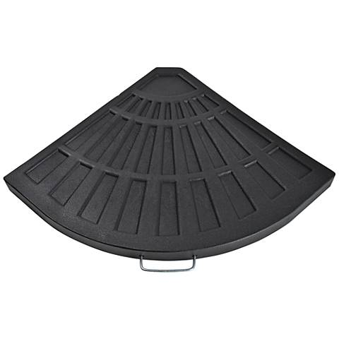 Sector Black Envirostone Umbrella Base - One Section