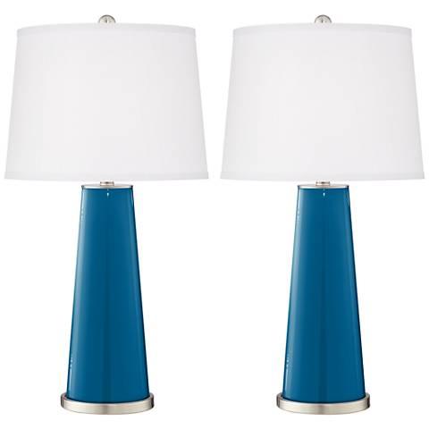 Mykonos Blue Leo Table Lamp Set of 2