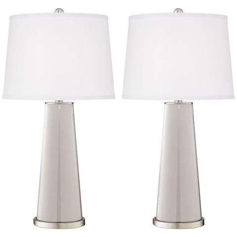 Silver Lining Metallic Leo Table Lamp Set of 2