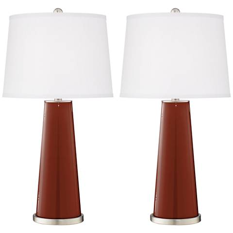 Fired Brick Leo Table Lamp Set of 2