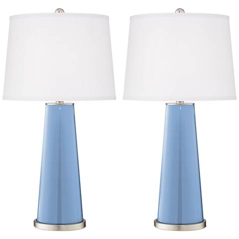 Placid Blue Leo Table Lamp Set of 2