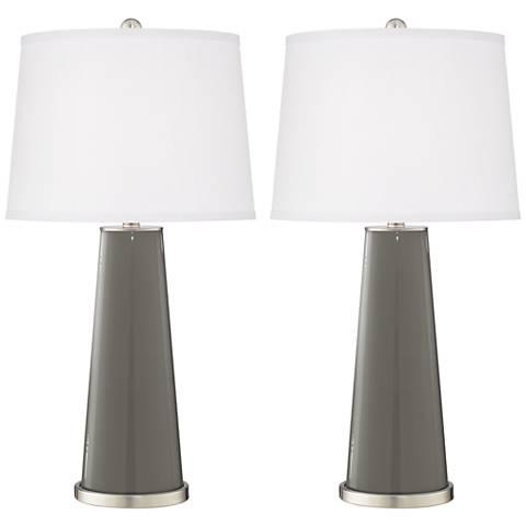 Gauntlet Gray Leo Table Lamp Set of 2