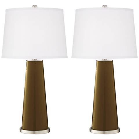 Bronze Metallic Leo Table Lamp Set of 2