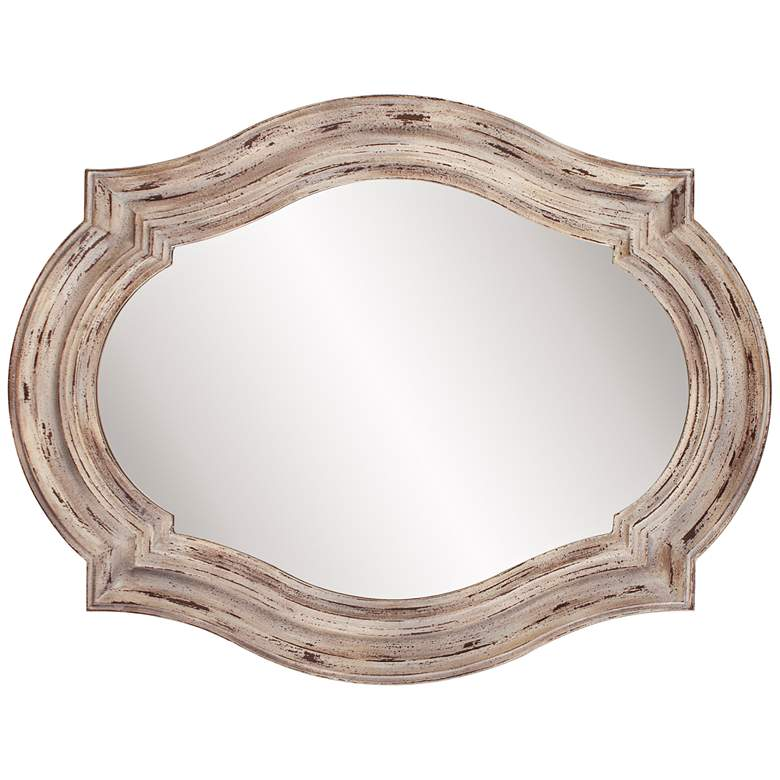"Howard Elliott Aubrey Rustic Wood 32"" x 42"" Wall Mirror"