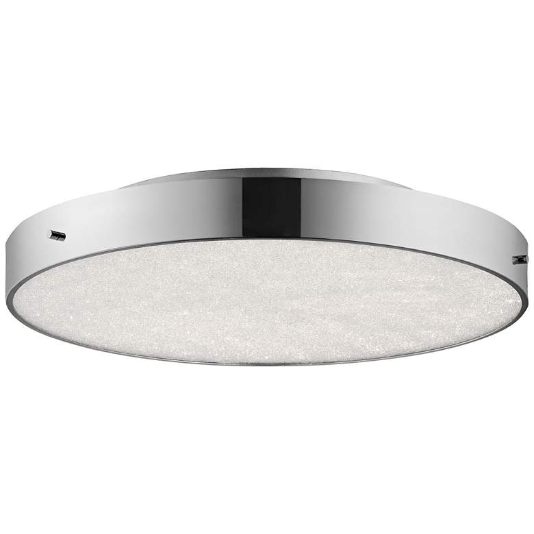 "Elan Crystal Moon Chrome 19 3/4""W LED Round"