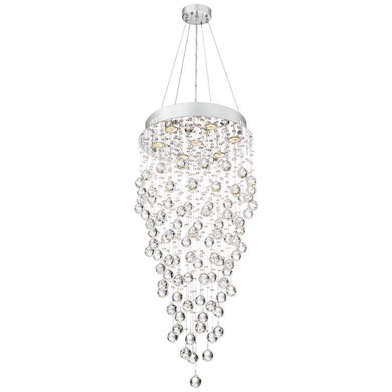 """Aida 18"""" Wide Pouring Crystal Chandelier"""