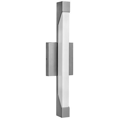 "Hinkley Vista 18 3/4""H LED Titanium Outdoor Wall Light"