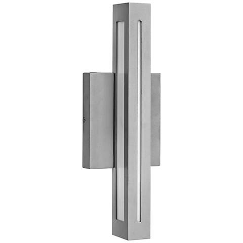 "Hinkley Vue LED 14 3/4"" High Titanium Outdoor Wall Light"