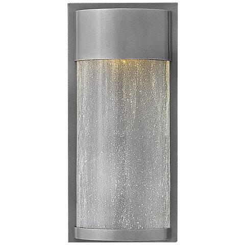 "Hinkley Shelter 12"" High LED Hematite Outdoor Wall Light"