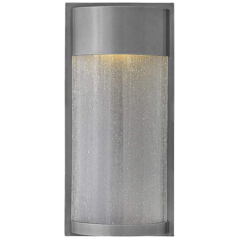 "Hinkley Shelter 18"" High LED Hematite Outdoor Wall Light"