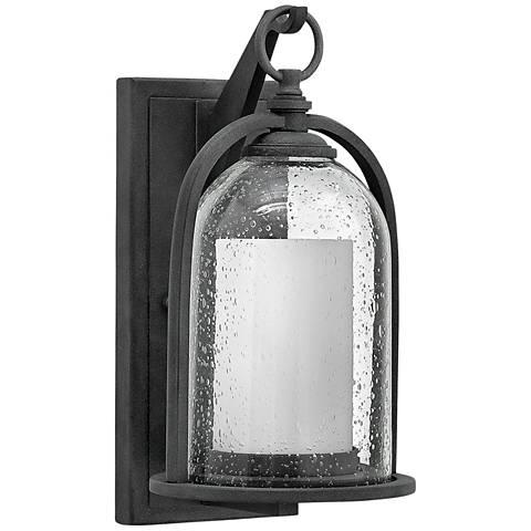 "Hinkley Quincy 13 1/2"" High Aged Zinc Outdoor Wall Light"