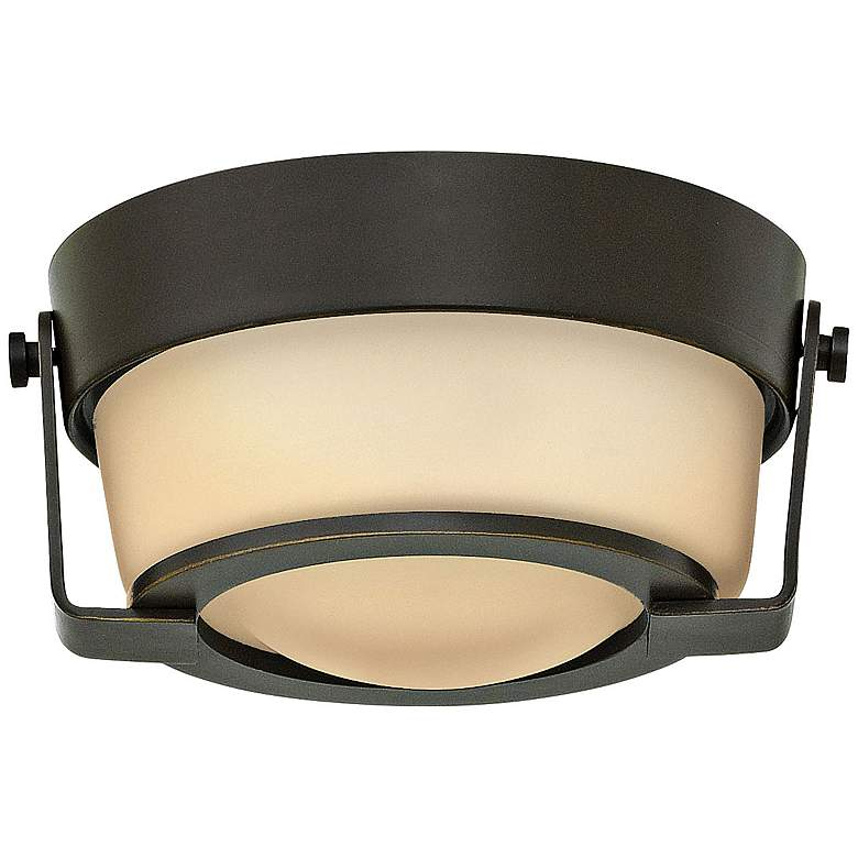 """Hinkley Hathaway 7"""" Wide LED Amber Glass Ceiling Light"""