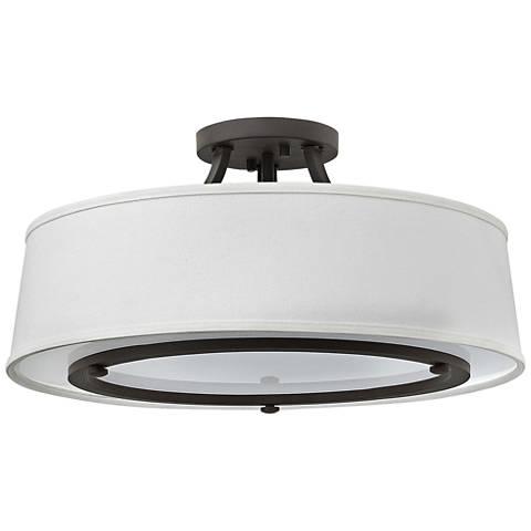 """Hinkley Harrison 20"""" Wide Buckeye Bronze Ceiling Light"""