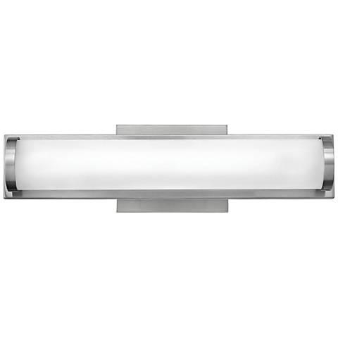 "Hinkley Acclaim 16"" Wide Brushed Nickel LED Bath Light"