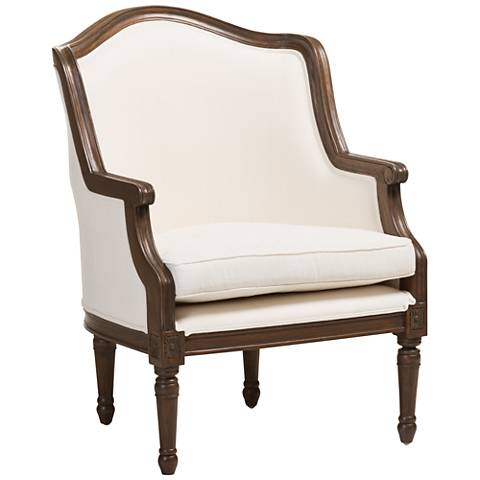 Baxton Studio Charlemagne Off-White French Accent Chair