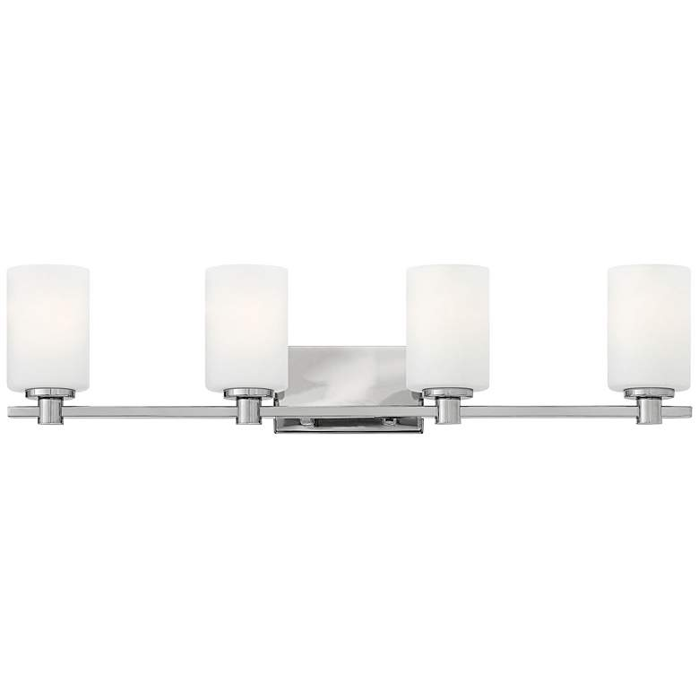 "Hinkley Karlie 32"" Wide Chrome 4-Light Bath Light"