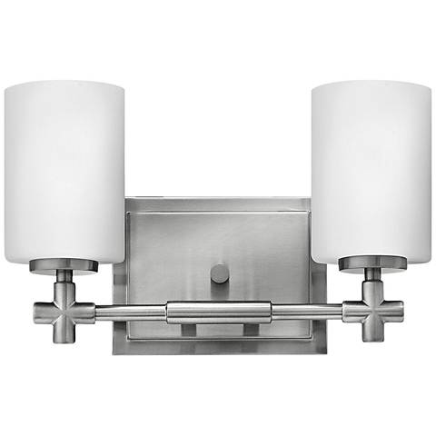 "Hinkley Laurel 13"" Wide Brushed Nickel 2-Light Bath Light"