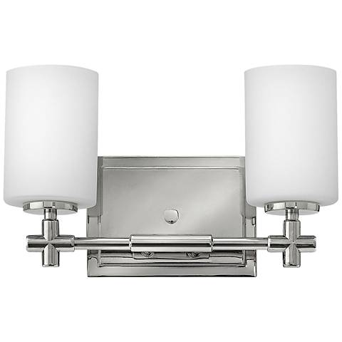 "Hinkley Laurel 13""W Polished Nickel 2-Light Bath Light"