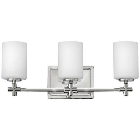 "Hinkley Laurel 19 1/2""W Polished Nickel 3-Light Bath Light"