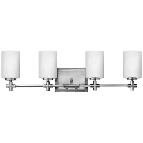 "Hinkley Laurel 4-Light 27 3/4""W Brushed Nickel Bath Light"