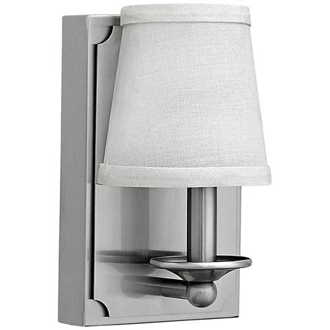 "Hinkley Avenue 8"" High Brushed Nickel LED Wall Sconce"