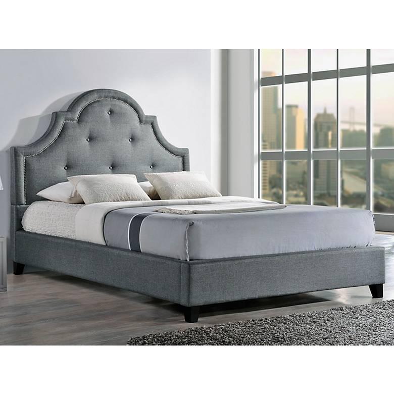 Baxton Studio Colchester Beige Linen Platform Bed