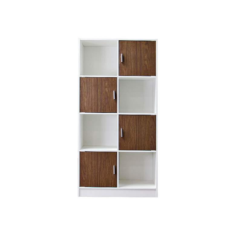 """Chateau 63 1/4"""" High Cubby Door Modern Bookcase"""