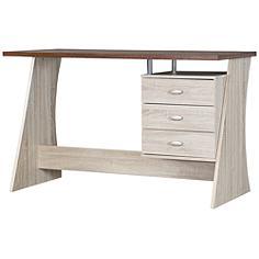 Baxton Studio Parallax Sonoma Oak 3-Drawer Writing Desk