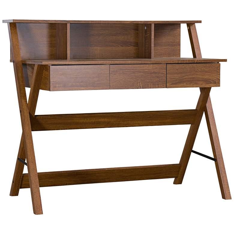 """Crossroads-II 43 1/4"""" Wide Sonoma Oak Writing Desk"""