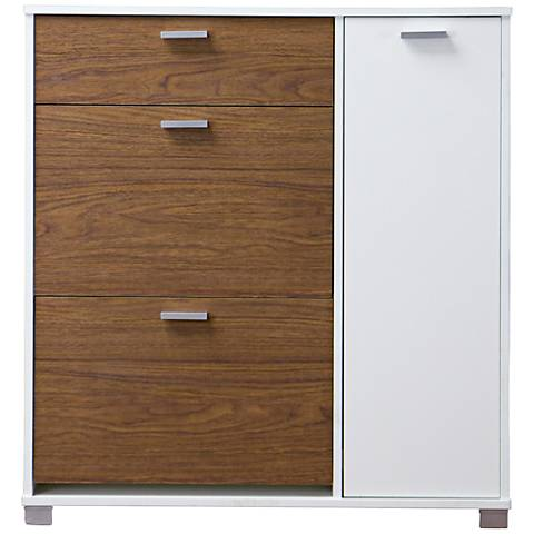 Baxton Studio Chateau White 3-Drawer Storage Cabinet