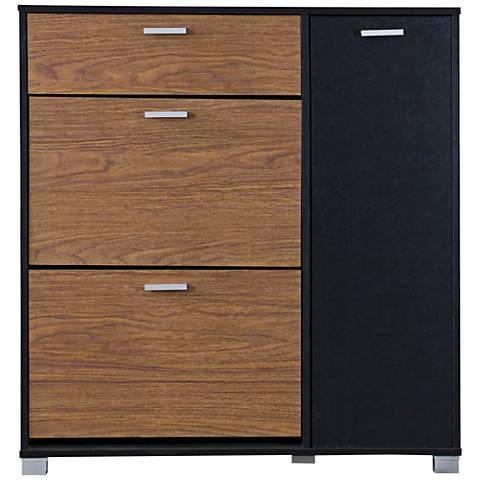 Baxton Studio Chateau Black 3-Drawer Storage Cabinet