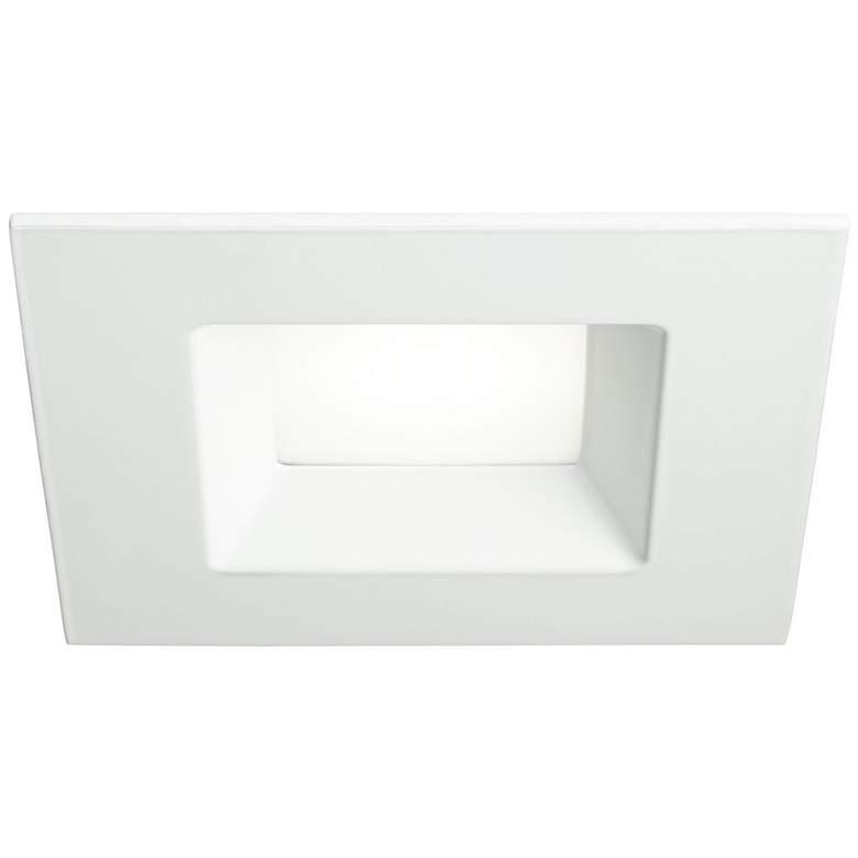 "6"" White Square Retrofit 15 Watt LED Recessed Light"