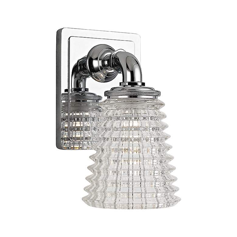 """Hudson Valley Westbrook 8"""" High Polished Chrome Wall Sconce"""