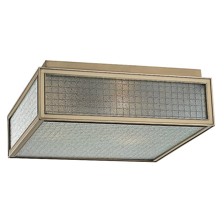 """Hudson Valley Freemont 14"""" Wide Aged Brass Ceiling Light"""