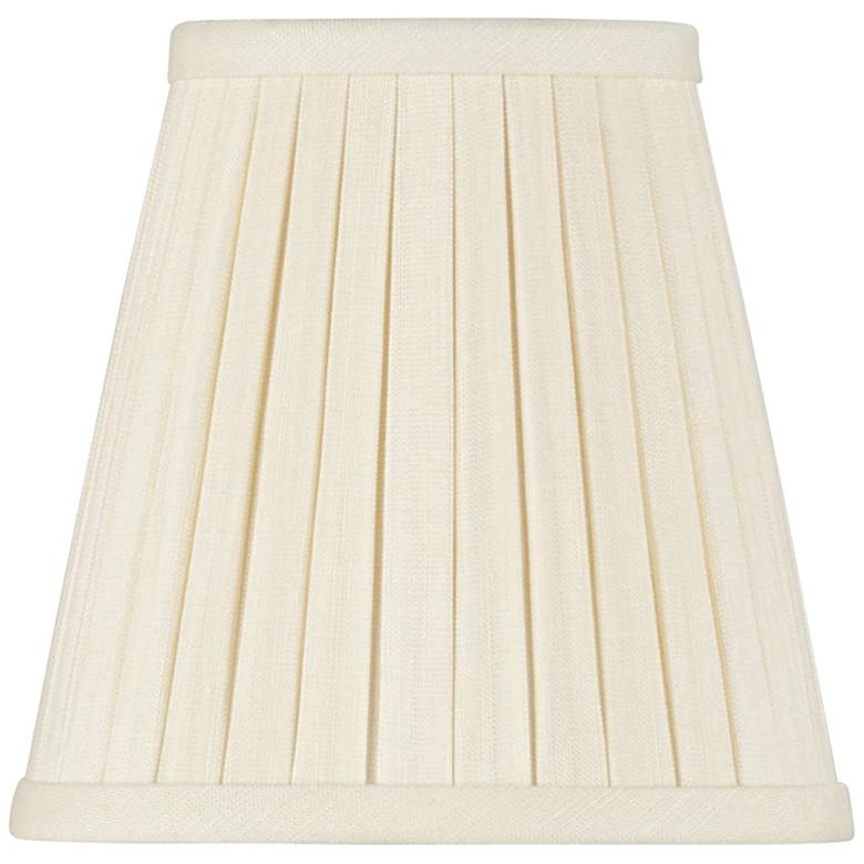 Eggshell Chandelier Box Pleat Lamp Shade 3x5x4.5 (Clip-On)