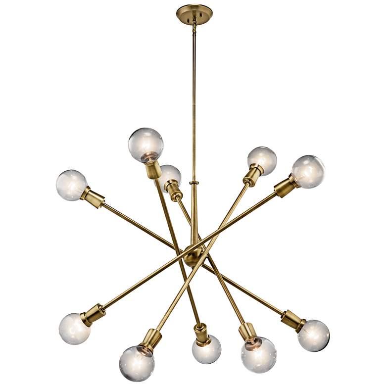 """Kichler Armstrong 47"""" Wide Natural Brass Sputnik Chandelier"""