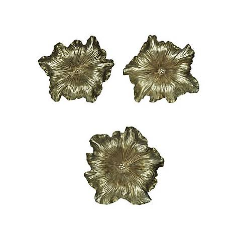 Crestview Bloom Silver Hanging Wall Art Set of 3