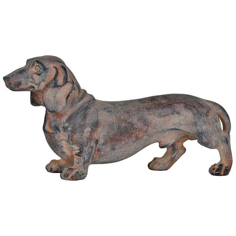 "Crestview On Guard 16 1/2"" Wide Dachshund Statue"