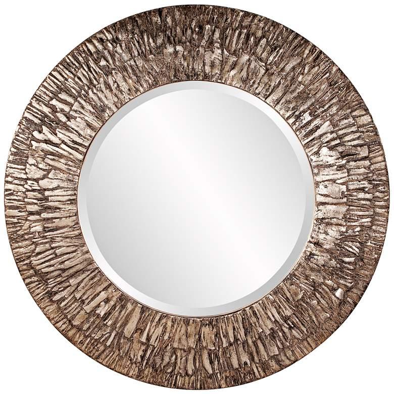 """Howard Elliott Linden Champagne 36"""" Round Wall Mirror"""